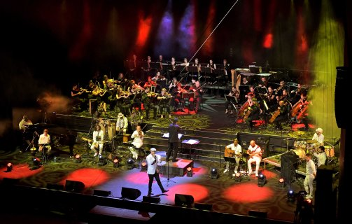 Cape Town - 20181028 - For two nights, 27 & 28 October 2018, Swedish singer, songwriter and music producer Maher Zain, performed to a packed Artscape Opera House. With each of his three albums achieving multi-platinum success, he is arguably the biggest name in the Islamic Music genre, his music has exceeded 1.8 billion views on social media, he is the most popular Muslim artist on Facebook and the most viewed Muslim artist on YouTube. He was accompanied by his own musicians and the Cape Town Philharminc Orcherstra under the baton of Brandon Phillips, in a collaboration that vas conceived two years ago. Picture Jeffrey Abrahams